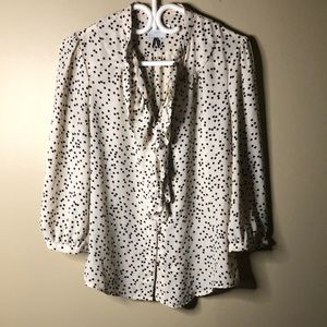 HD in Paris front ruffle blouse